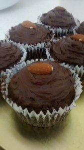 Chocolate Cupcakes with a Peanut Butter Surprise